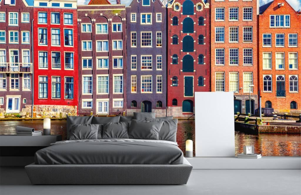 Cities wallpaper - Amsterdam houses - Bedroom 3
