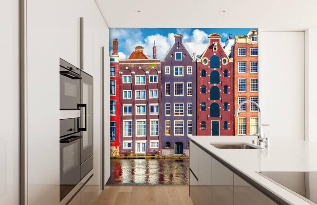 Cities wallpaper - Amsterdam houses - Bedroom 4