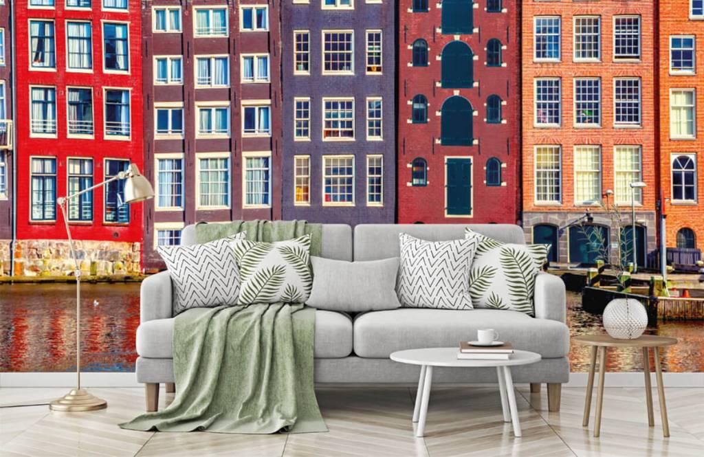 Cities wallpaper - Amsterdam houses - Bedroom 8
