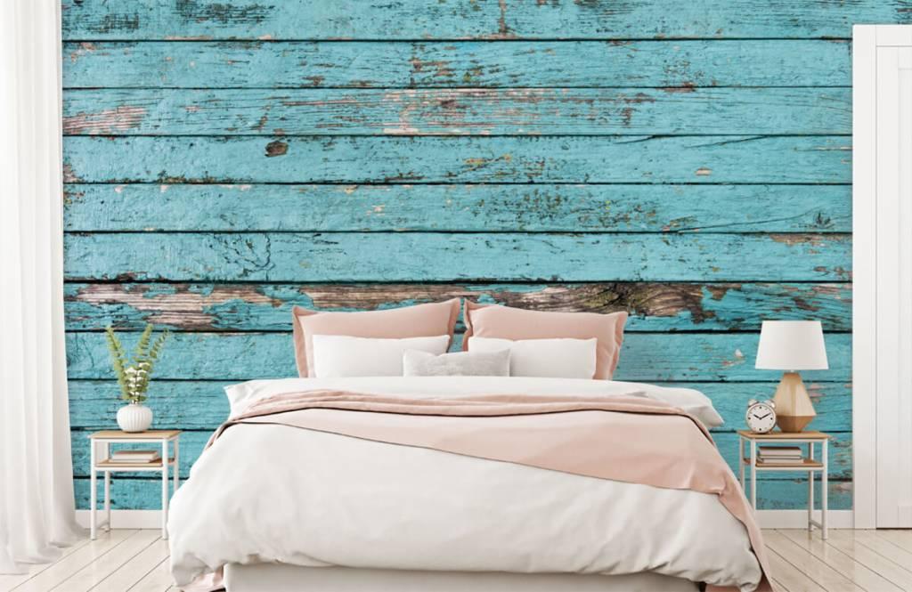 Wooden wallpaper - Blue wood - Bedroom 2