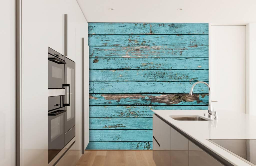 Wooden wallpaper - Blue wood - Bedroom 3