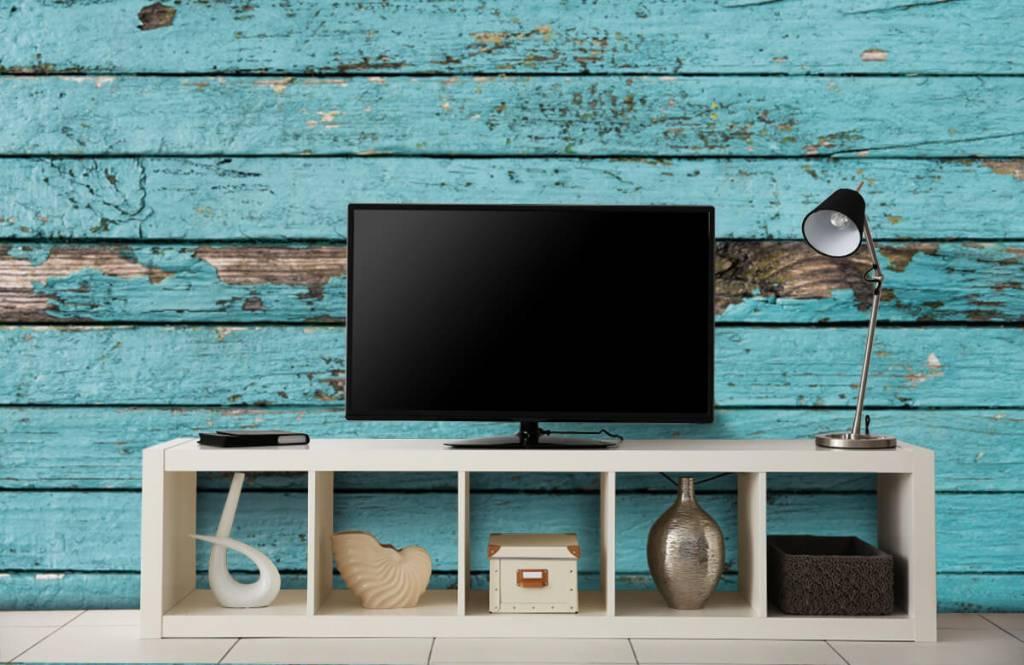 Wooden wallpaper - Blue wood - Bedroom 4