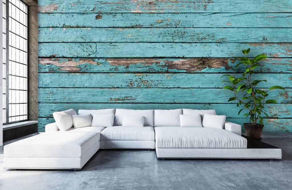 Wooden wallpaper - Blue wood - Bedroom 5