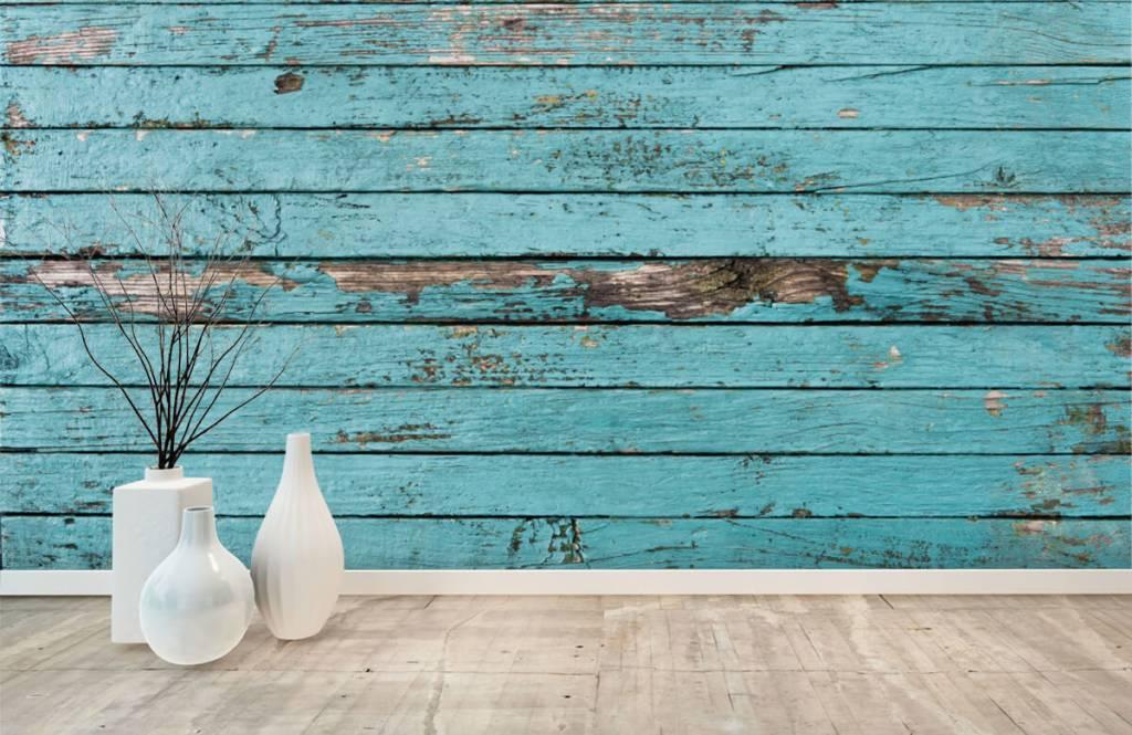 Wooden wallpaper - Blue wood - Bedroom 8