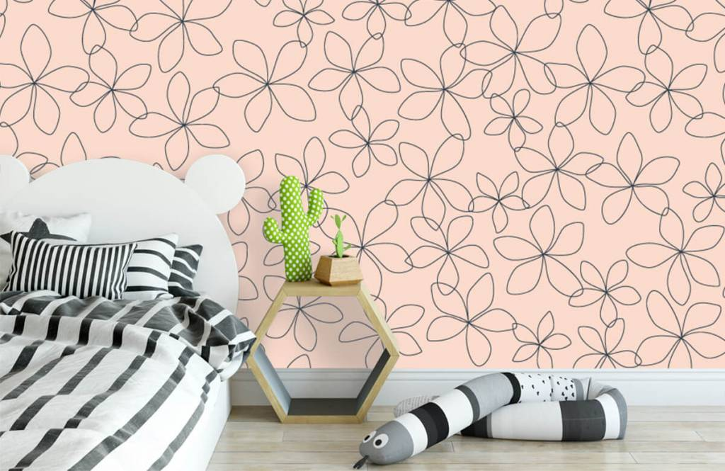 Patterns for Kidsroom - Blue flowers - Children's room 3
