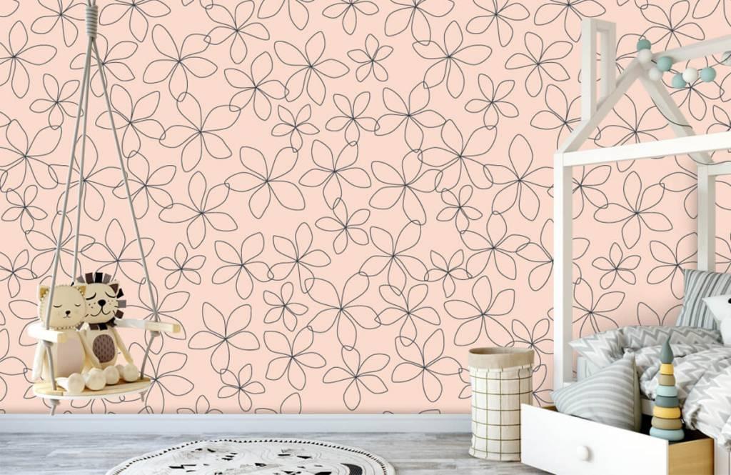 Patterns for Kidsroom - Blue flowers - Children's room 4