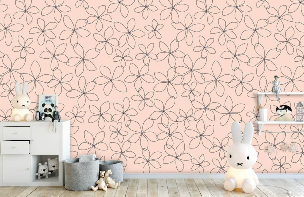 Patterns for Kidsroom - Blue flowers - Children's room 5