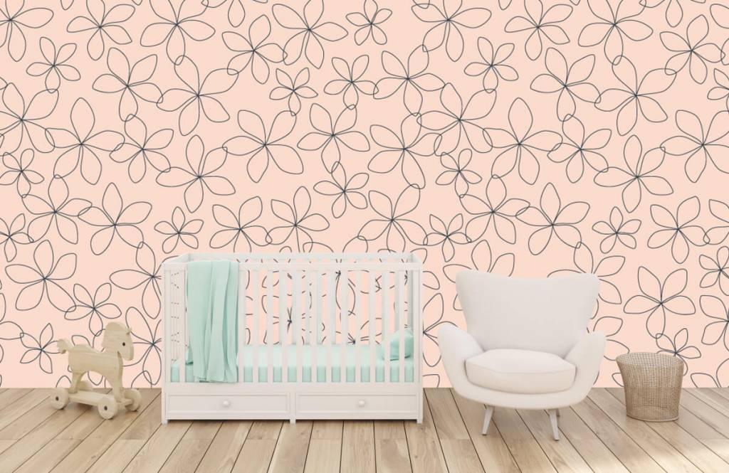 Patterns for Kidsroom - Blue flowers - Children's room 6