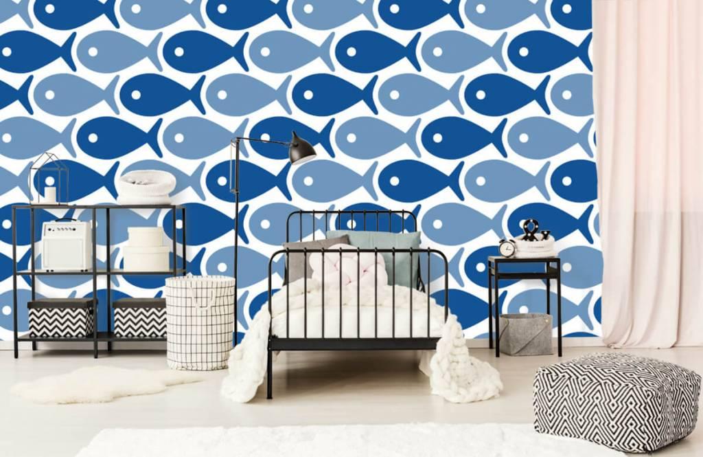 Aquatic Animals - Blue fish - Children's room 2