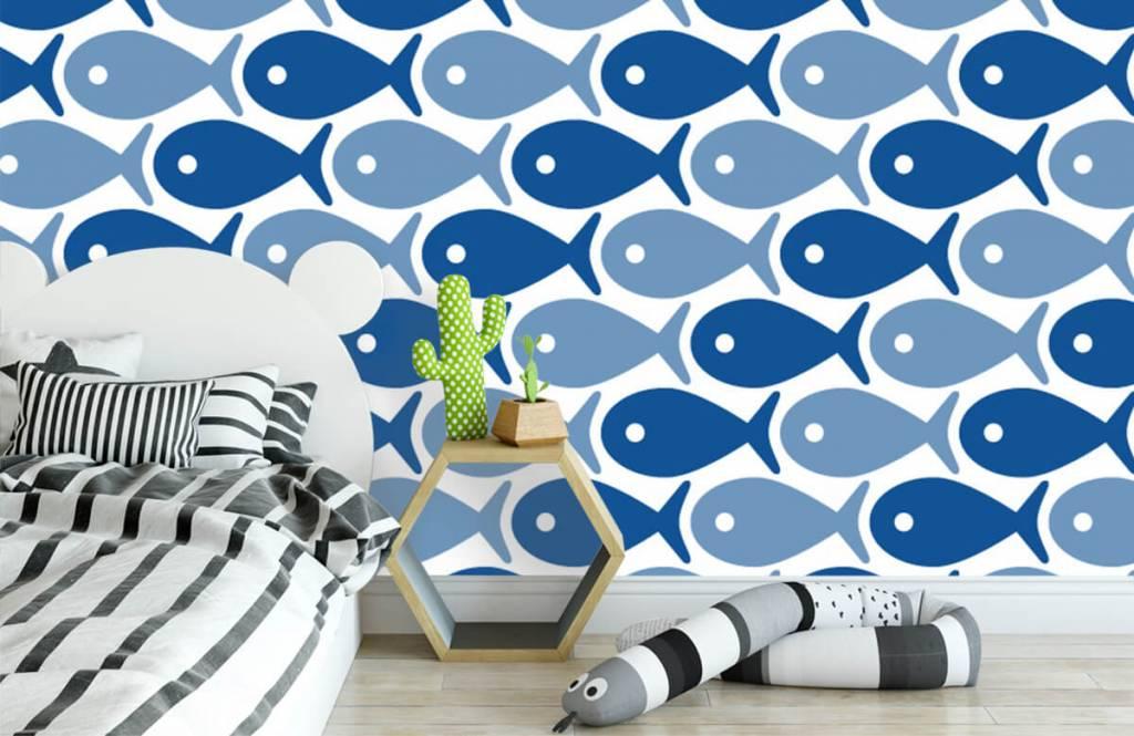 Aquatic Animals - Blue fish - Children's room 3
