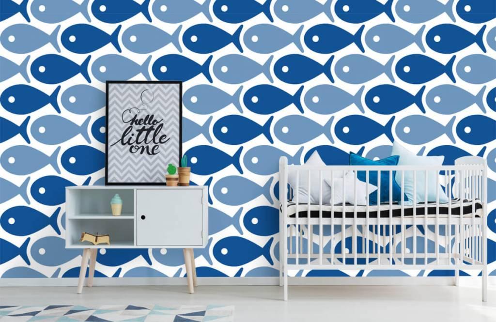 Aquatic Animals - Blue fish - Children's room 6