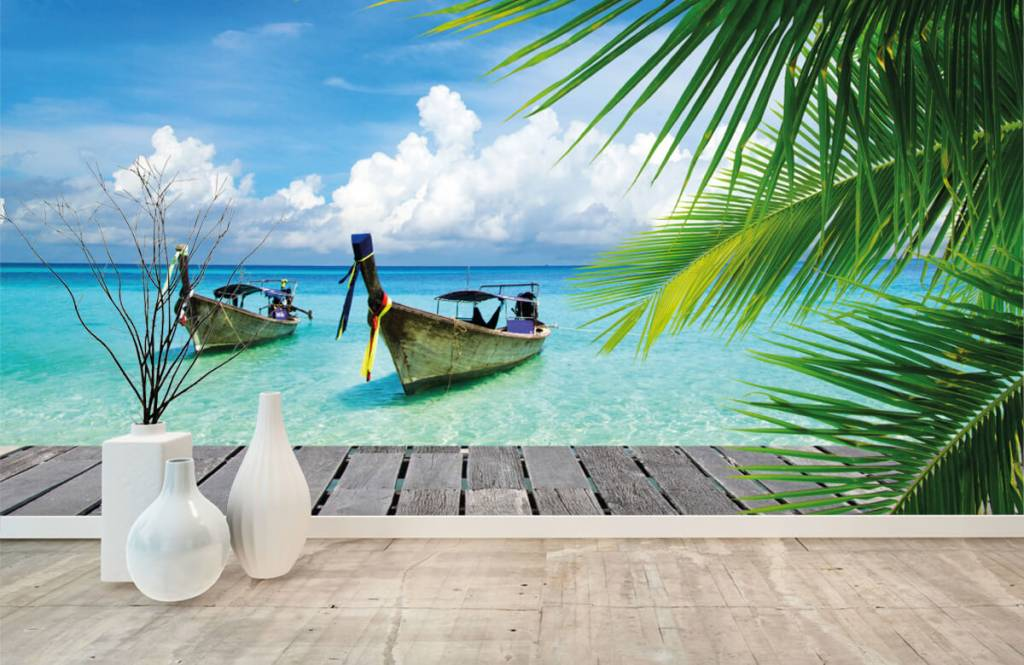 Palmtrees - Boat and a palm tree - Living room 1