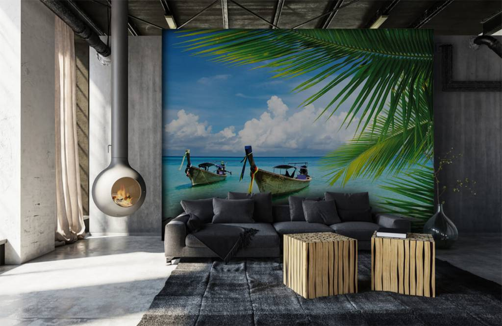Palmtrees - Boat and a palm tree - Living room 7