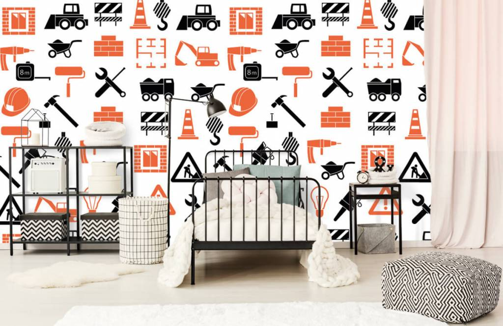 Other - Construction vehicles and building materials - Children's room 2
