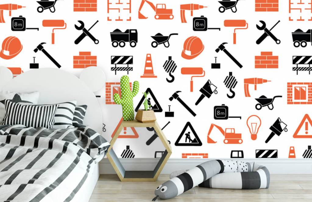 Other - Construction vehicles and building materials - Children's room 3