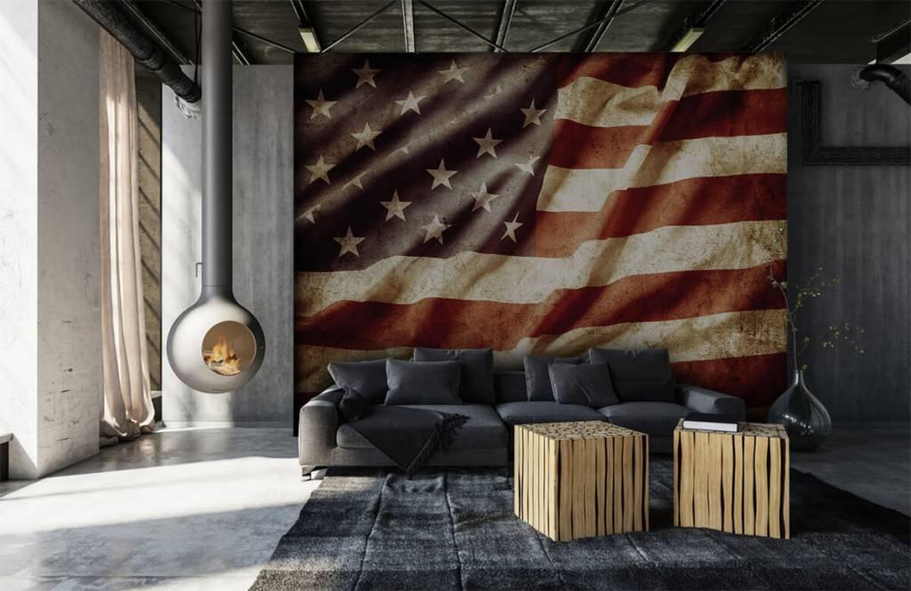 Boys wallpaper - American flag - Teenage room 1