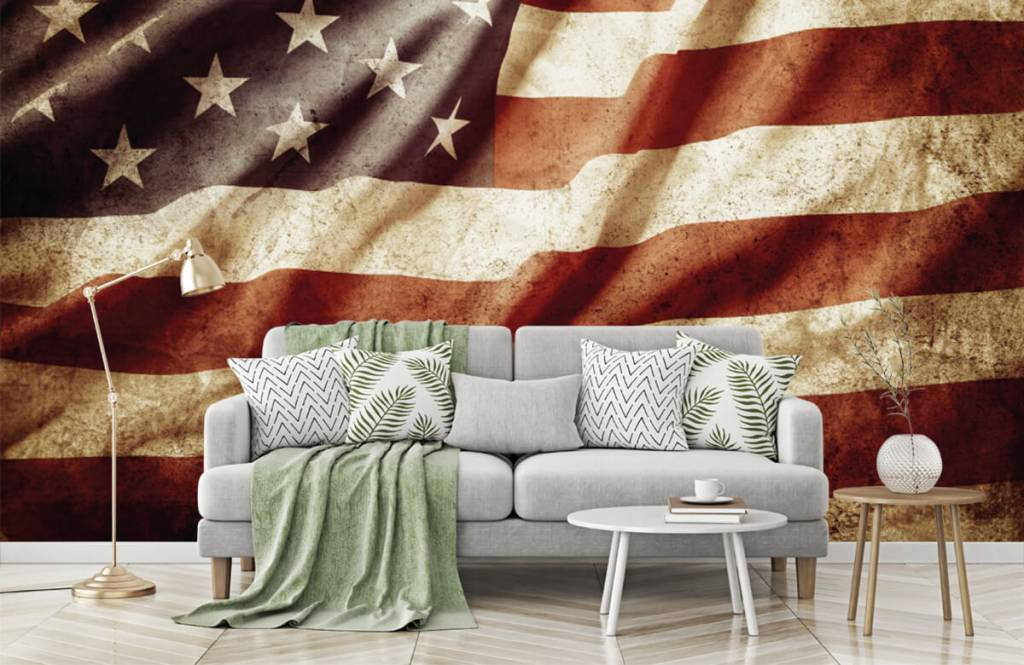 Boys wallpaper - American flag - Teenage room 2