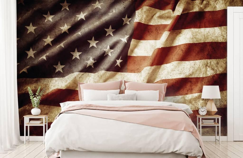 Boys wallpaper - American flag - Teenage room 3