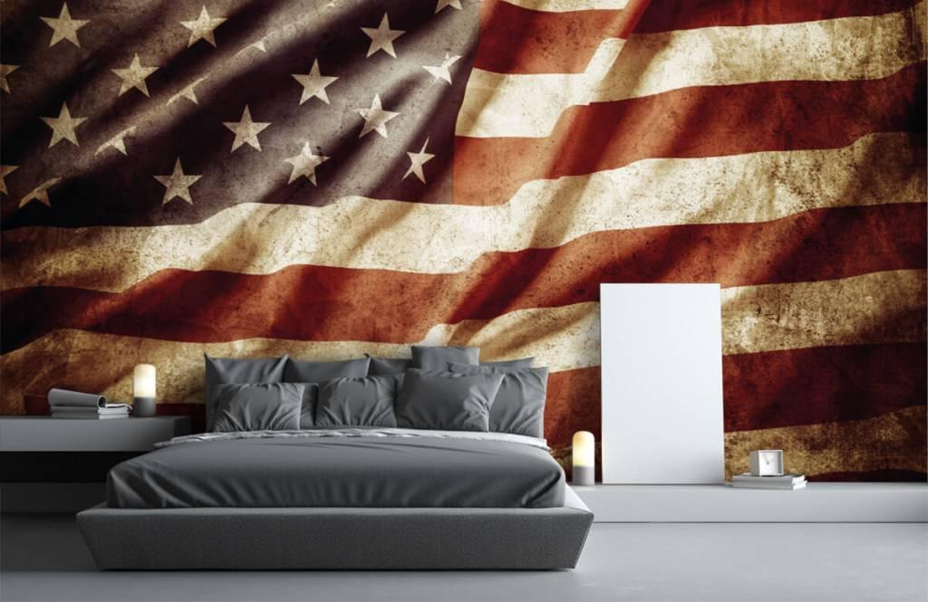 Boys wallpaper - American flag - Teenage room 4