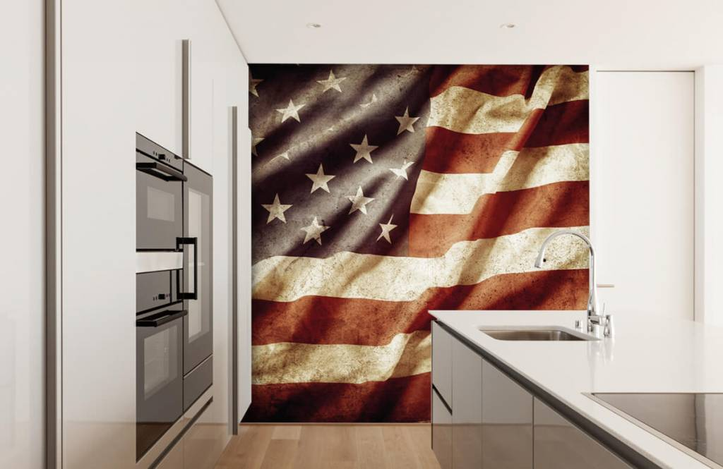 Boys wallpaper - American flag - Teenage room 5
