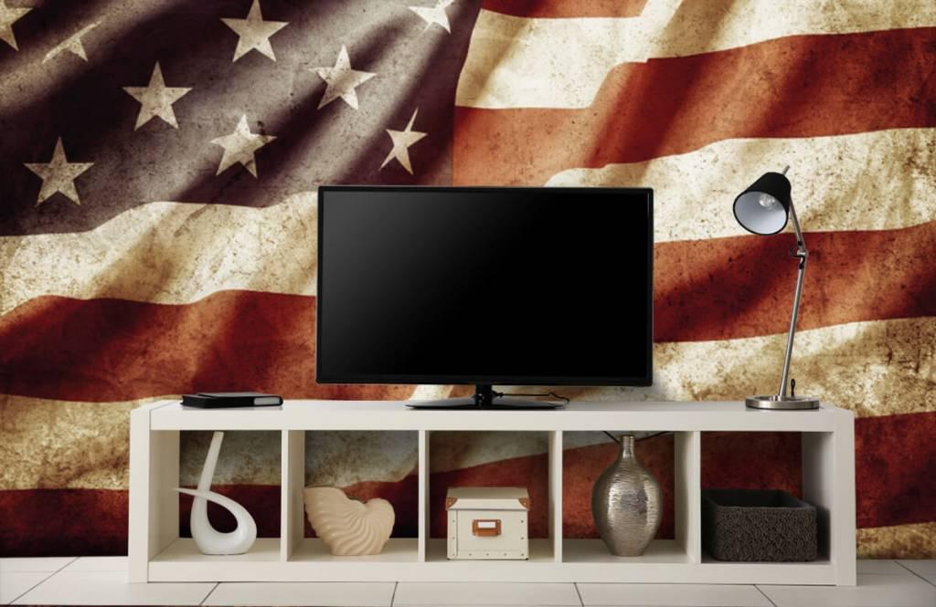 Boys wallpaper - American flag - Teenage room 6
