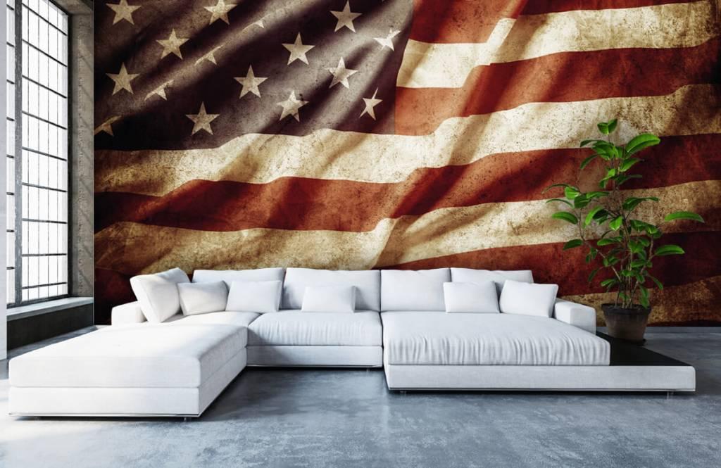 Boys wallpaper - American flag - Teenage room 7
