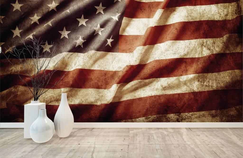 Boys wallpaper - American flag - Teenage room 8