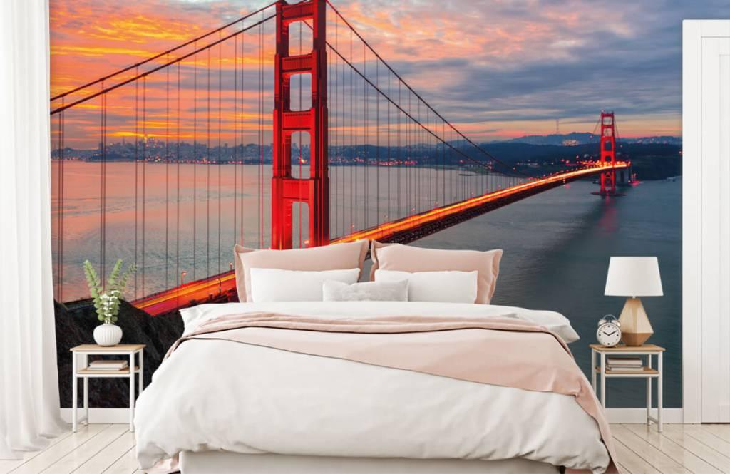 Cities wallpaper - Golden Gate Bridge - Bedroom 2