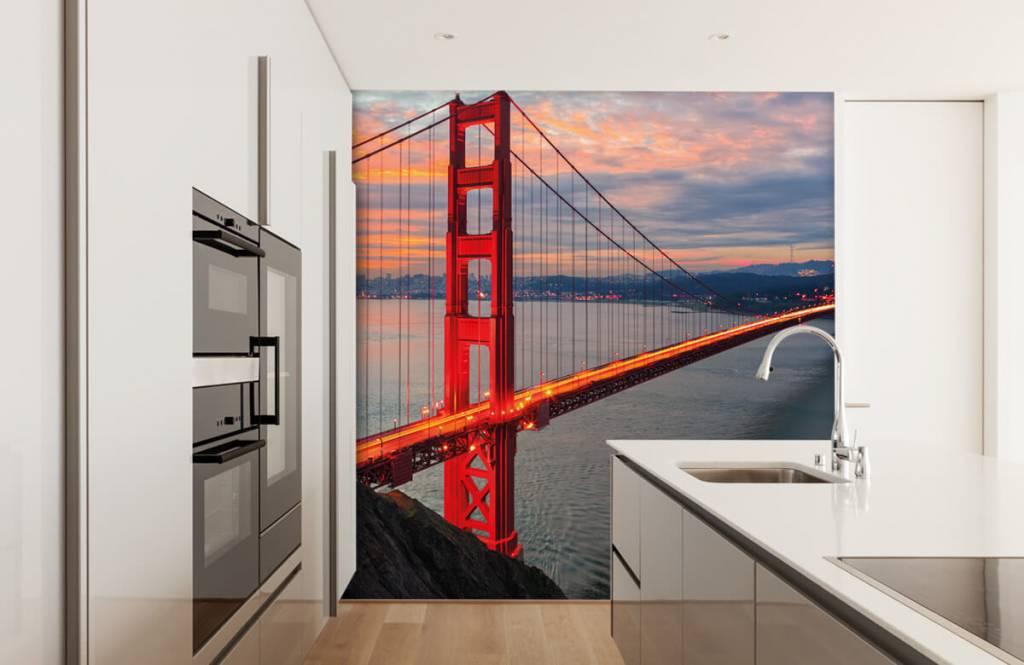 Cities wallpaper - Golden Gate Bridge - Bedroom 4