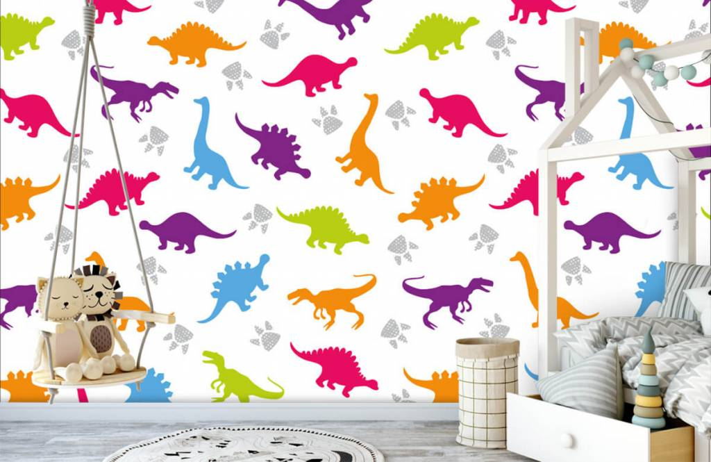Boys wallpaper - Dinners and paws - Children's room 3