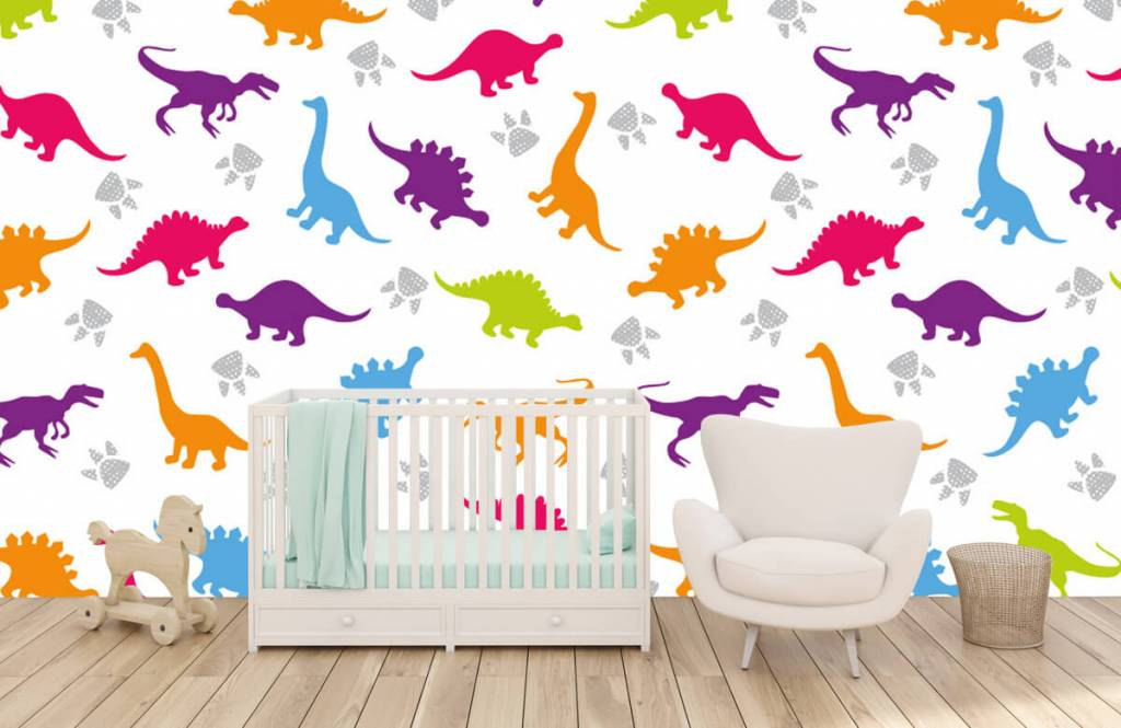 Boys wallpaper - Dinners and paws - Children's room 5