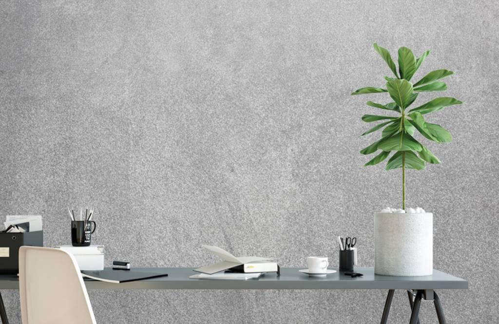 Concrete look wallpaper - Dark sanded concrete - Office 2