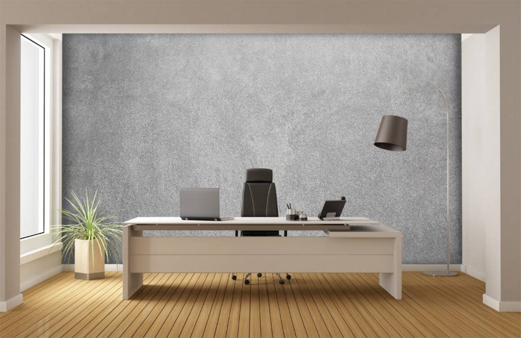 Concrete look wallpaper - Dark sanded concrete - Office 3