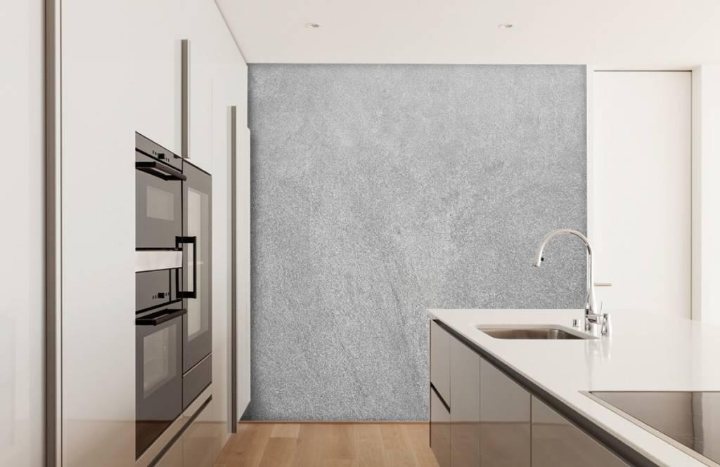 Concrete look wallpaper - Dark sanded concrete - Office 4