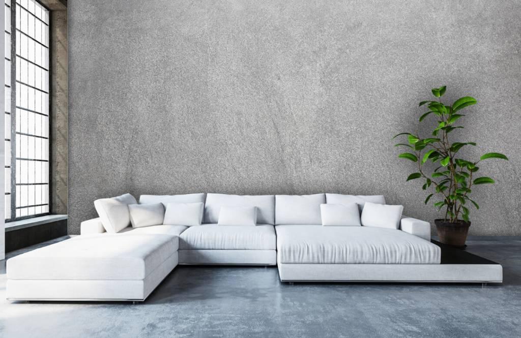 Concrete look wallpaper - Dark sanded concrete - Office 5