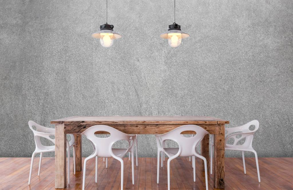 Concrete look wallpaper - Dark sanded concrete - Office 6