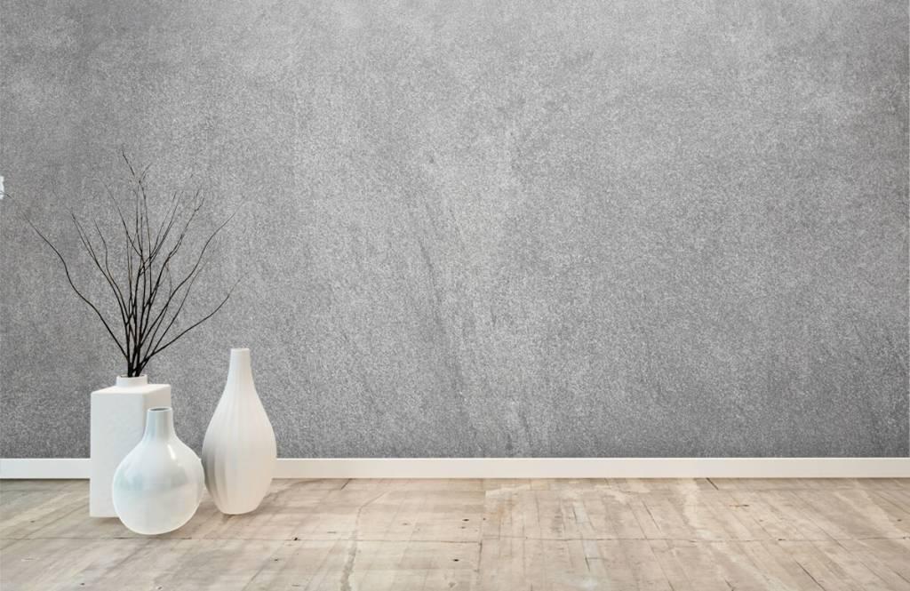 Concrete look wallpaper - Dark sanded concrete - Office 7