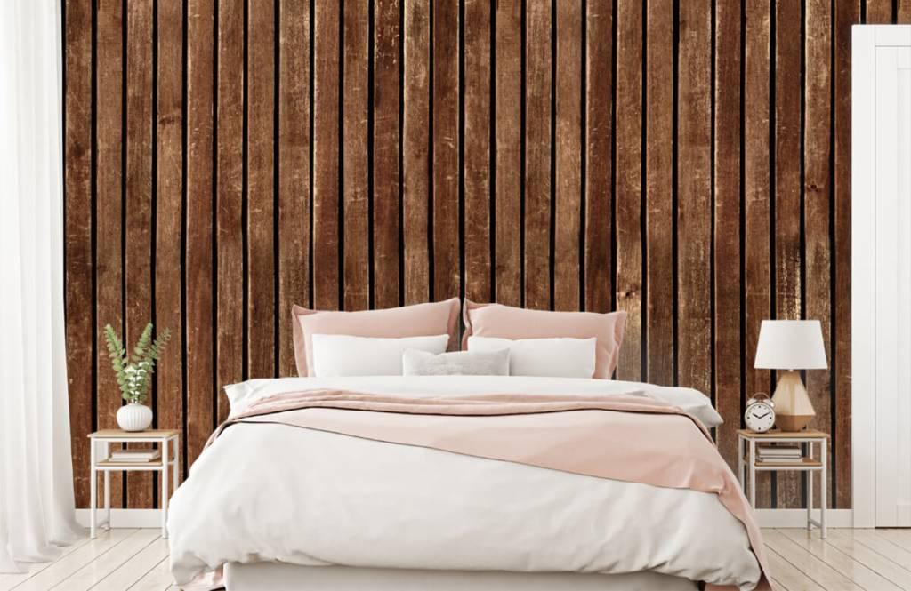Wooden wallpaper - Dark vertical wooden planks - Hallway 2