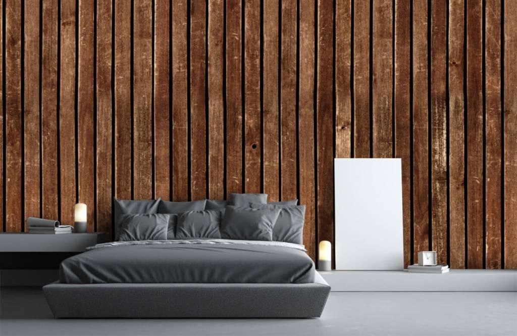 Wooden wallpaper - Dark vertical wooden planks - Hallway 3
