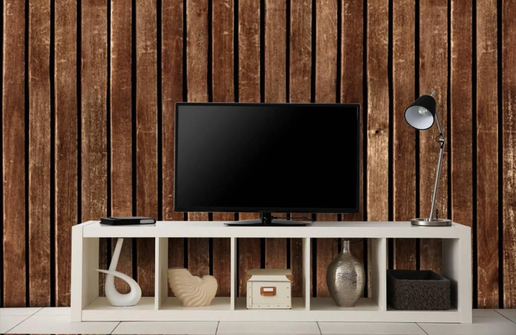 Wooden wallpaper - Dark vertical wooden planks - Hallway 5