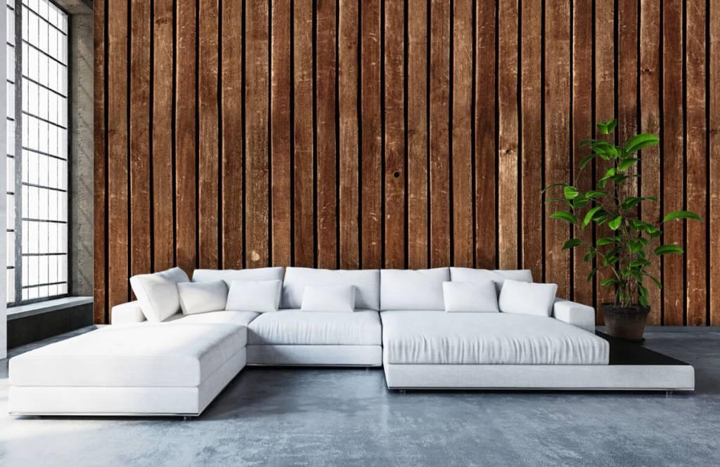 Wooden wallpaper - Dark vertical wooden planks - Hallway 6