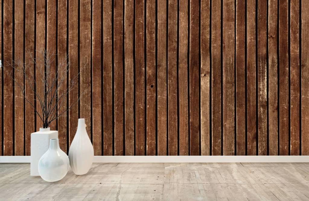 Wooden wallpaper - Dark vertical wooden planks - Hallway 8