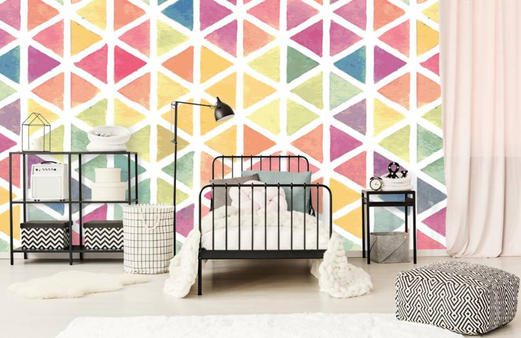 Other - Triangles with watercolor effect - Children's room 1