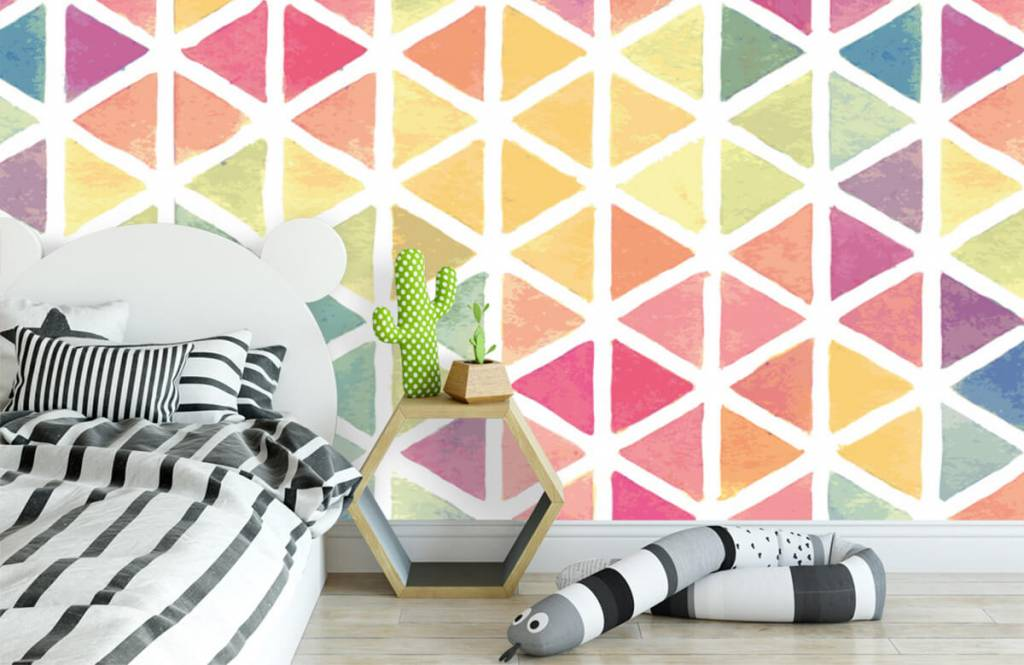 Other - Triangles with watercolor effect - Children's room 2