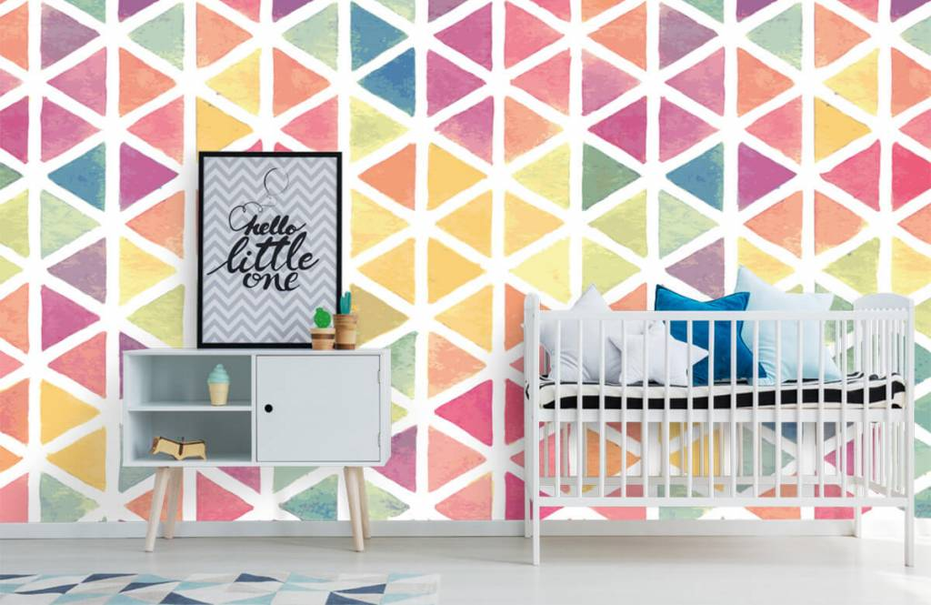 Other - Triangles with watercolor effect - Children's room 3