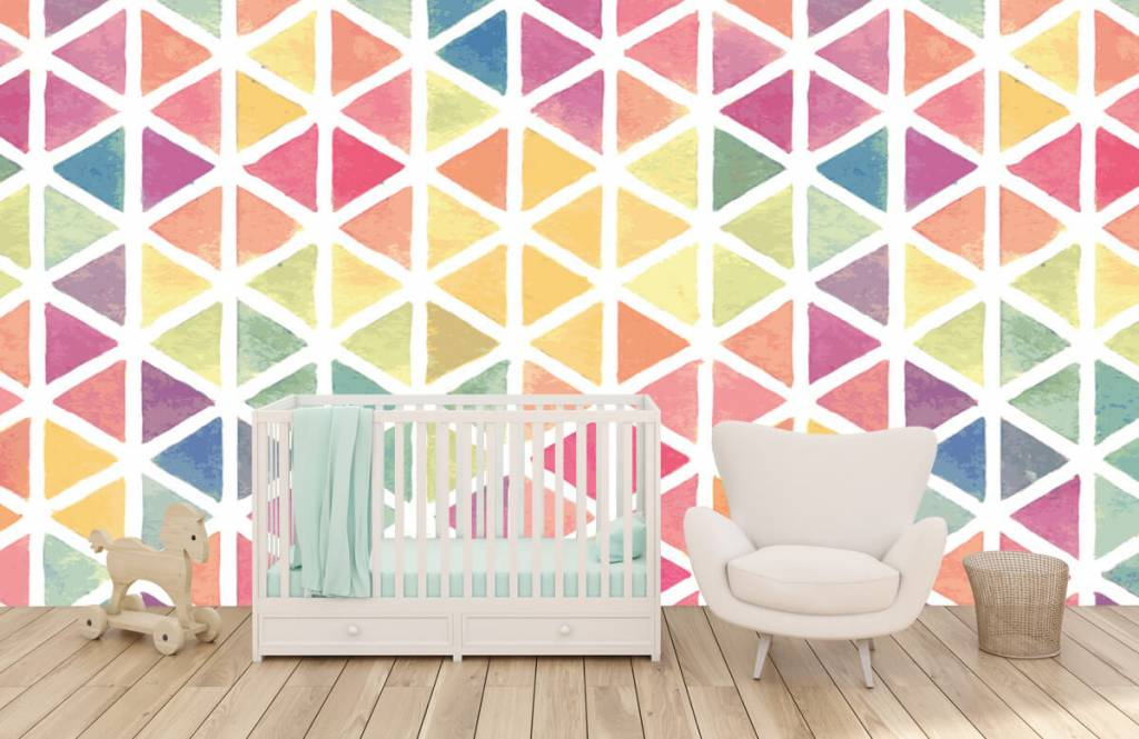 Other - Triangles with watercolor effect - Children's room 4