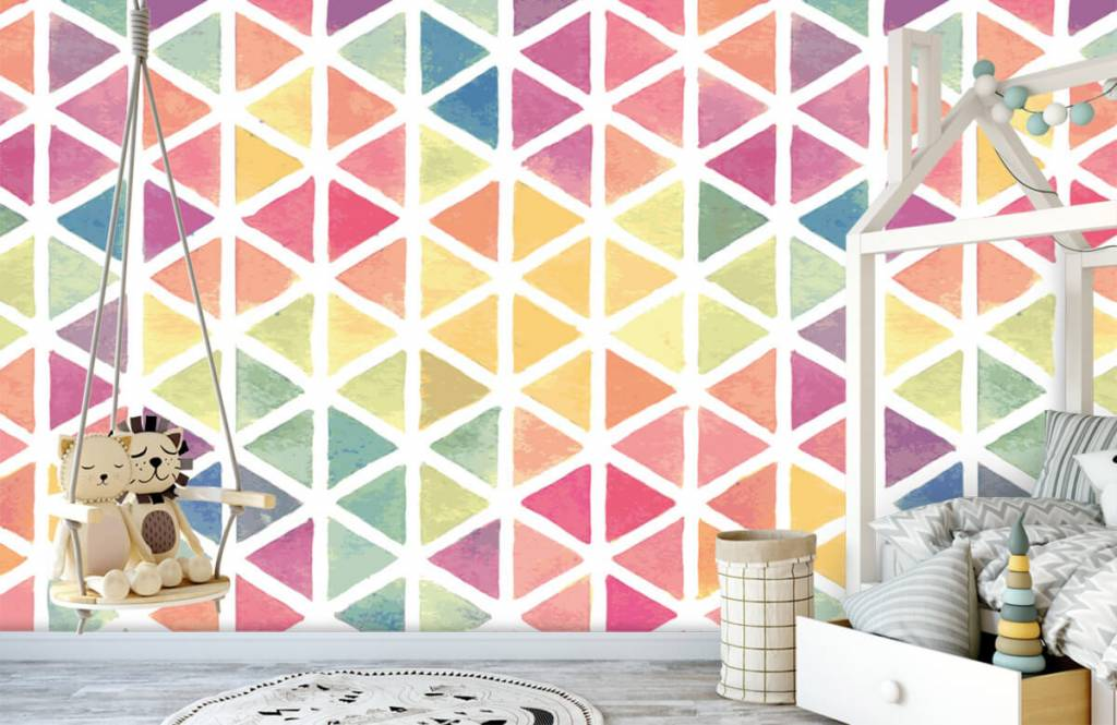 Other - Triangles with watercolor effect - Children's room 5