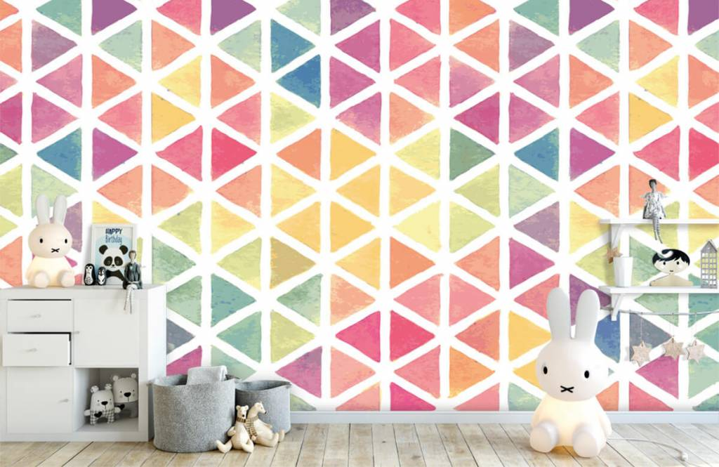 Other - Triangles with watercolor effect - Children's room 6