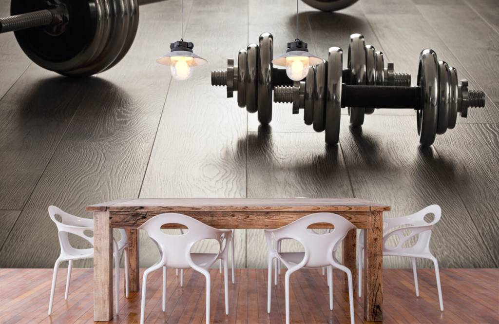 Fitness - Dumbells and weights - Hobby room 5