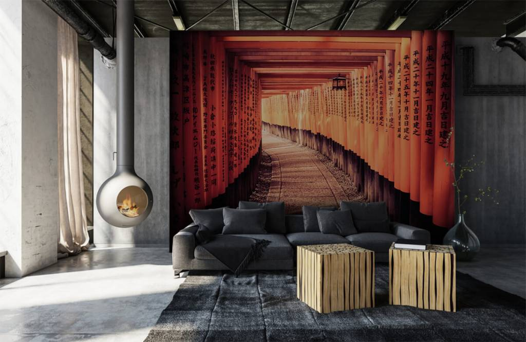 Cities wallpaper - Chinese tunnel - Bedroom 1